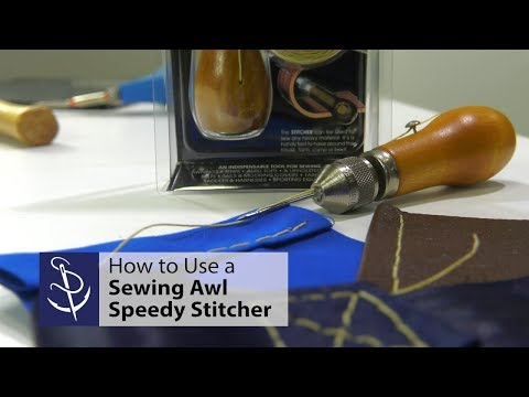 How to Use a Sewing Awl - Speedy Stitcher