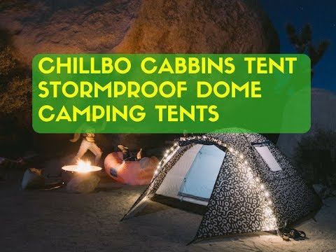 Chillbo Cabbins Tent Stormproof Dome Camping Tents with cool patterns