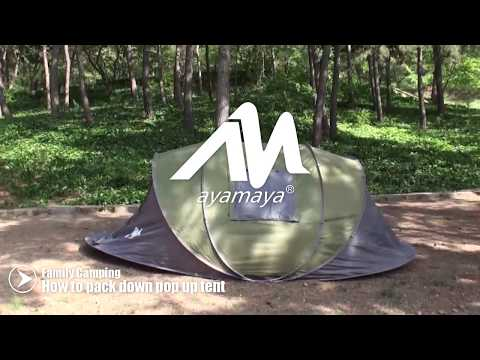 How to re-pack down AYAMAYA pop up tent