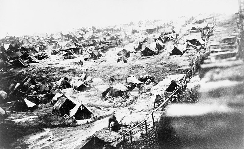 Pup tents used during civil war