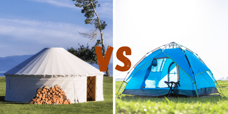 Difference between a yurt and tent