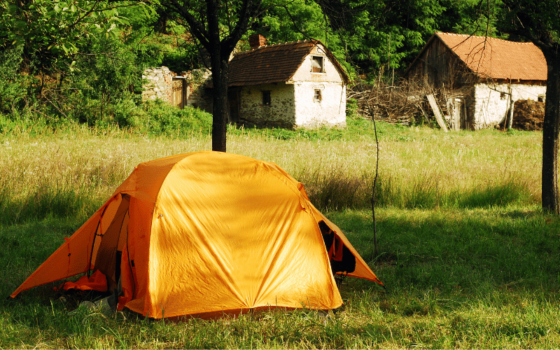 tent with two vestibules