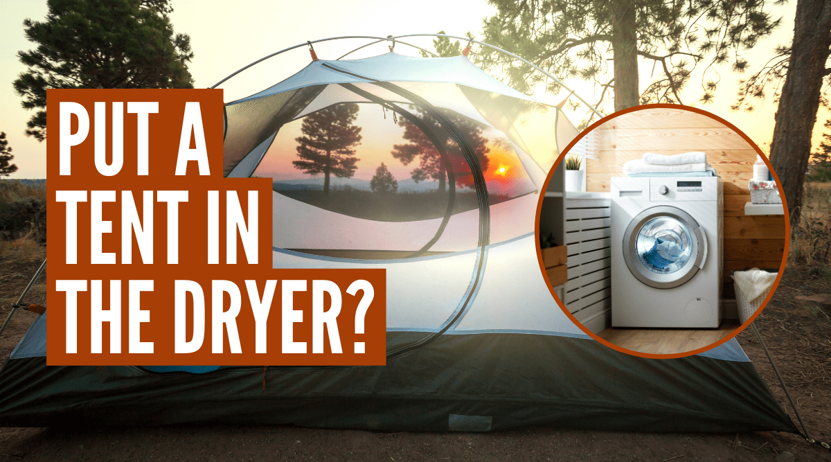 Can you put a tent in the dryer