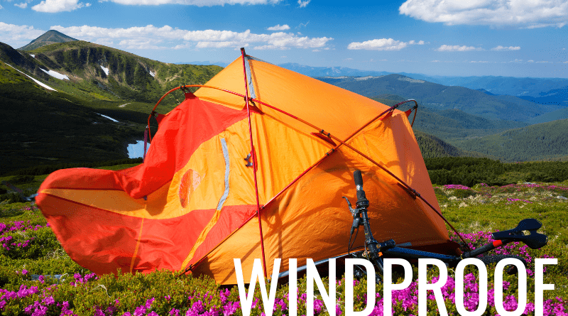 How to windproof a tent